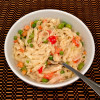 Creamy & Spicy Rice Noodles with Vegetables (free of gluten & dairy)